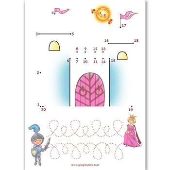 Learn to write - Maths cards - Connect the Dots 0-20