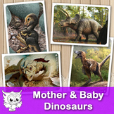 """Matching Cards - """"Mother & Baby Dinosaurs"""""""