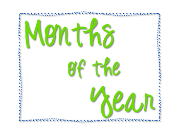 Learn to Write & Read Months of the Year
