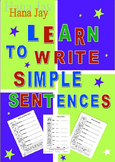 Learn to Write Simple Sentences