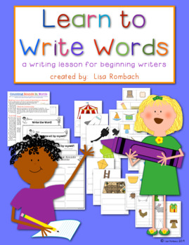 Learn to Write Words, Writing Lesson for Beginning Writers