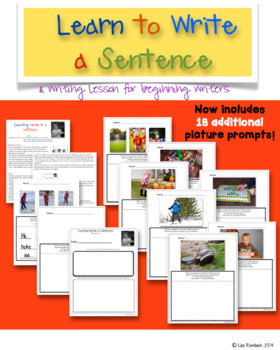 Learn to Write a Sentence, Writing Lesson for Beginning Writers
