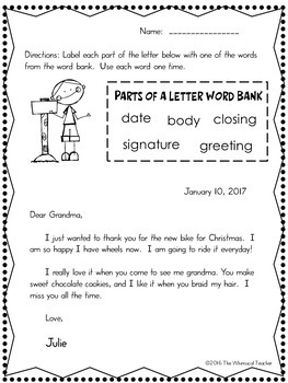 Learn To Write A Thank You Letter Christmas Edition By The Whimsical