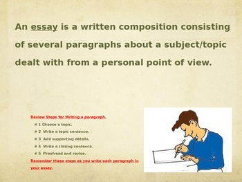 Learn to Write an Essay Lesson 3