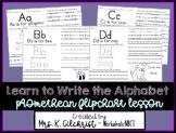 Learn to Write the Alphabet ActivInspire Promethean Flipchart Lesson