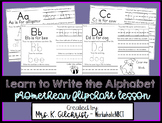 Learn to Write the Alphabet ActivInspire Promethean Flipchart Lesson