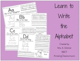 Learn to Write the Alphabet Activity Worksheet Packet