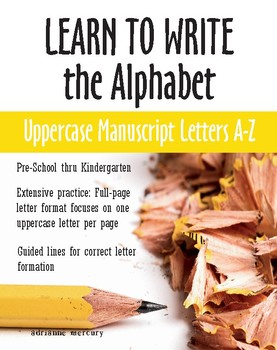 Learn To Write The Alphabet Uppercase Manuscript Letters A Z