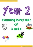 Learn to count in 3's and 4's in a fun way