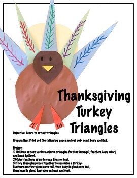 Learn to cut: Thanksgiving Turkey Triangles