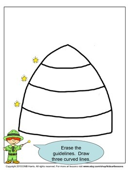 Directed Drawing.  Learn to Draw a Beehive!