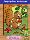 Learn to Draw a Chipmunk -  Directed Drawing Lesson.