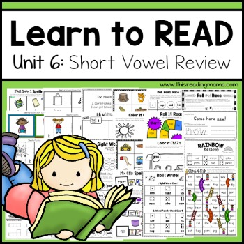 Learn to read - Short Vowel Review Unit 6