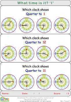 Learn to tell the time 2 (17 distance learning worksheets for Time)