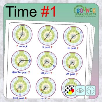 Learn to tell the time 1 (14 distance learning worksheets for Time)