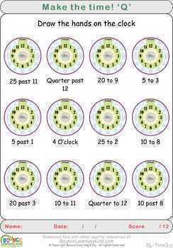 Learn to tell the time 3 (18 distance learning worksheets for Time) FREE