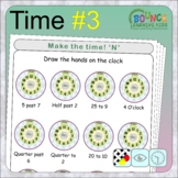 Learn to tell the time 3 (18 distance learning worksheets