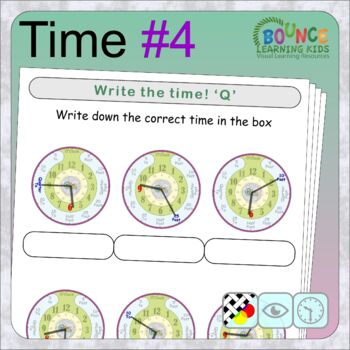 Learn to tell the time 4 (24 Time sheets)
