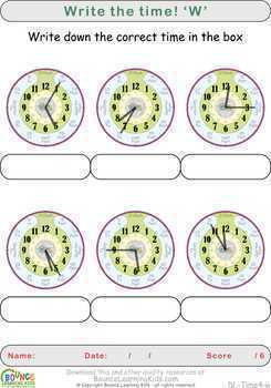 Learn to tell the time 4 (24 distance learning worksheets for Time)