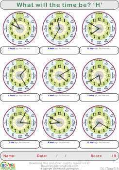 Learn to tell the time 5 (16 Time sheets)