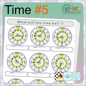 Learn to tell the time 5 (16 distance learning worksheets for Time)