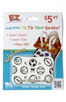 """Ready, Set...Tie your Shoes!  """"Sports"""" Shoe Tying Tool by EZLeaps"""