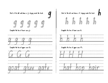 Learn to write letters and numbers