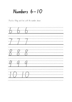 Learn to write numbers 1 - 10