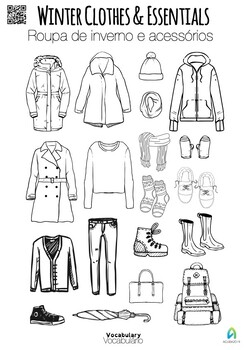 Learn vocabulary: winter clothes and essentials