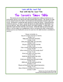 Learn with Me, Sweet Pea! The Seven Times Table Poem