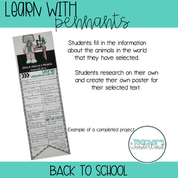 Learn with Pennants- Back To School Pennants