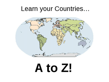 Learn your Countries A to Z