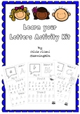 Learn your Letters Activity Kit- Modern Vic Cursive font