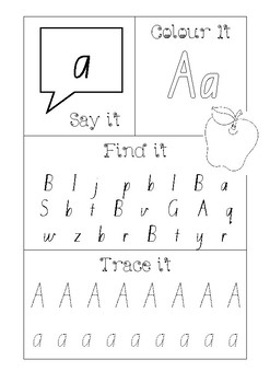 Learn your Letters Activity Kit using QBeginner font