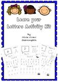 Learn your Letters Activity Kit using QBeginner font
