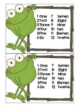 Learn your Number Words and Numbers with a Card Game