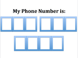 Learn your Phone Number - File Folder Game