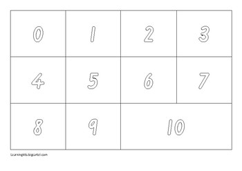 Learn your numbers 0-10 Activity Book