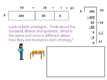 LearnZillion - Divide Whole Numbers Using Various Strategies