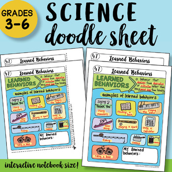 Learned Behaviors Doodle Notes Sheet - So EASY to Use! PPT included