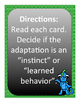 Learned Behaviors and Instincts Sort