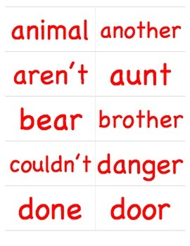 Authentic Learned Words List 2, Record of Mastery, & Word Cards