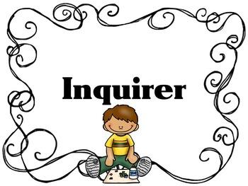 Learner Profile- Art, B&W Swirl Border, IB PYP