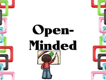 Learner Profile- Art, Colored Squares Border, IB PYP