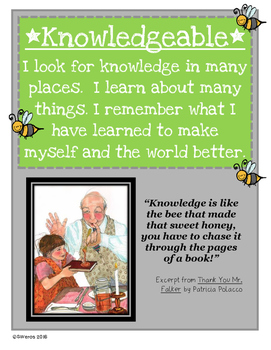 Knowledgeable Learner Profile Attribute Lesson Petunia by Roger Duvoisin