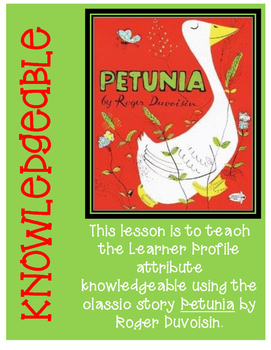 Knowledgeable Learner Profile Attribute Lesson Petunia by