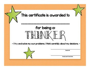 Learner Profile Attributes: End of Year Awards!