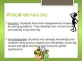 Learner Profile: Beginning of Year Vocabulary sets High Ex