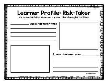 Learner Profile Book: Connecting Literature and the Learner Profiles