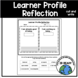 Learner Profile Cut and Write Reflection
